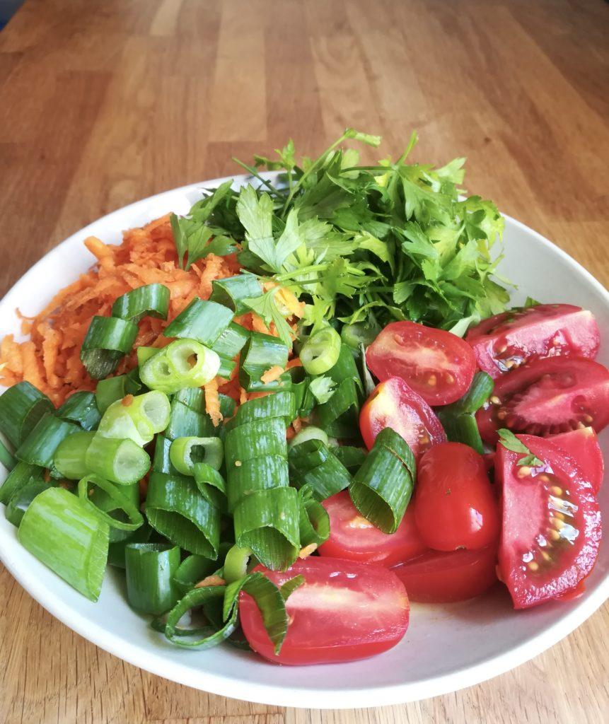 Gemüse für das Low-Carb-Vegan-Gericht