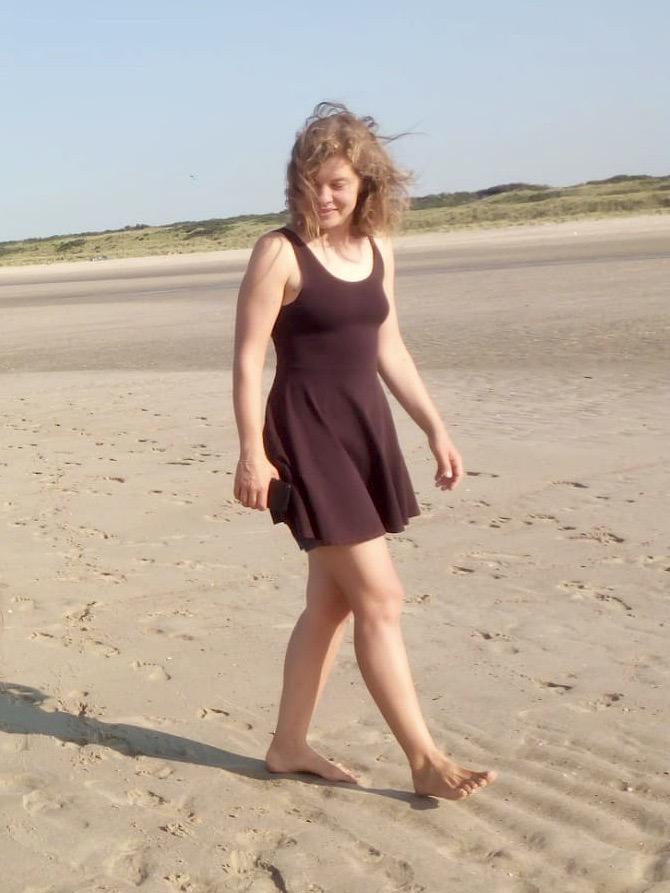 Kleid ohne BH