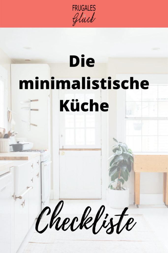 Checkliste minimalistische Küche zum Herunterladen