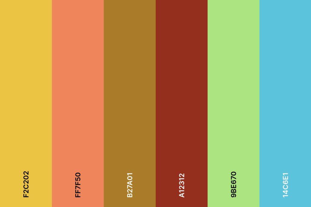 Farbpalette für den Farbtyp Frühling