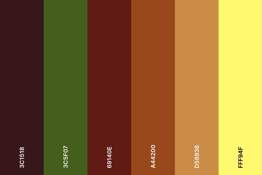 Farbpalette für den Farbtyp Herbst