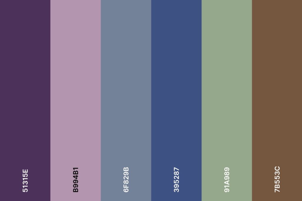 Farbpalette für den Farbtyp Sommer